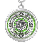 Verde del collar del vintage de la vid del rosa bl