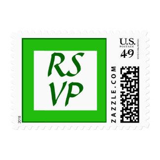 Verde del color de RSVP Sello