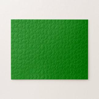 Verde del color sólido rompecabezas con fotos