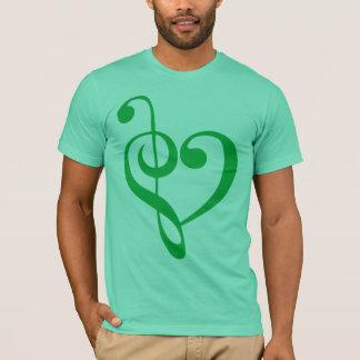 Verde del corazón de la música playera
