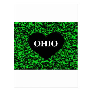 Verde del corazón de Ohio Postal
