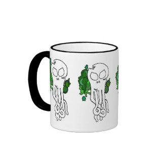 Verde del cráneo de Octo, verde del cráneo de Taza De Dos Colores