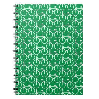 verde del cuaderno de la bicicleta