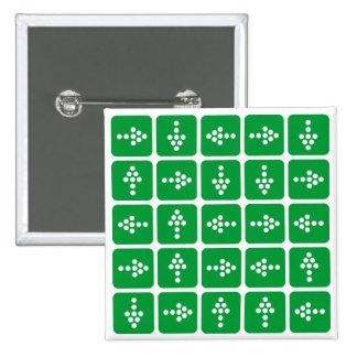 Verde del cuadrado de la flecha del LED Pin Cuadrado