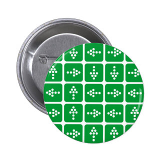 Verde del cuadrado de la flecha del LED Pin Redondo De 2 Pulgadas