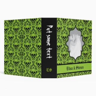 Verde del damasco de los cráneos boda negro de Ha