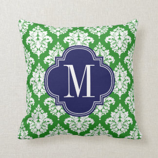 Verde del damasco y personalizado elegantes de la almohadas