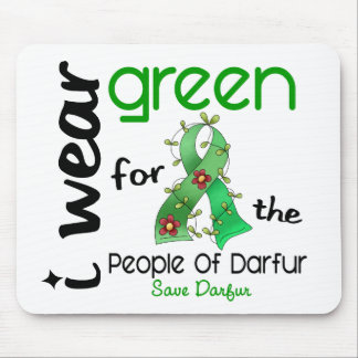 VERDE del DESGASTE de Darfur I PARA la GENTE 43 Tapete De Ratón
