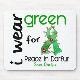 VERDE del DESGASTE de Darfur I PARA la PAZ 43 Tapetes De Ratones