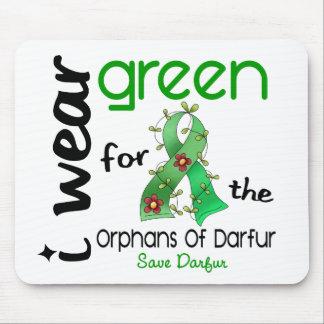 VERDE del DESGASTE de Darfur I PARA los HUÉRFANOS  Tapetes De Raton