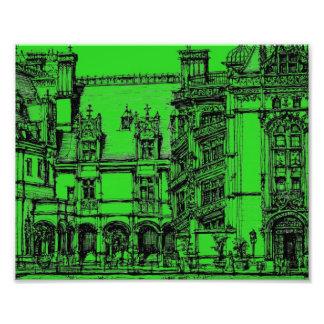 Verde del dibujo detallado fotografías