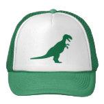 Verde del dinosaurio gorros bordados