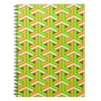 verde del diseño 60s libreta espiral