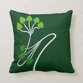 Verde del diseño floral de Nouveau Verneuil del Almohada