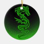 Verde del dragón adornos de navidad