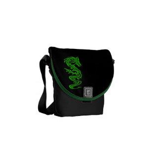 Verde del dragón bolsas de mensajeria