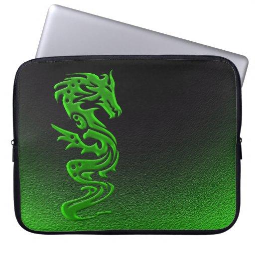 Verde del dragón mangas portátiles