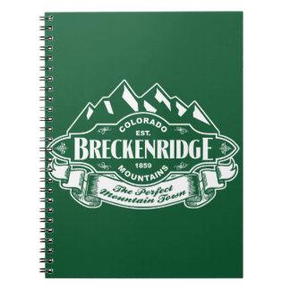 Verde del emblema de la montaña de Breckenridge Libreta