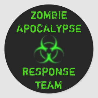 Verde del equipo de la respuesta de la apocalipsis pegatina redonda
