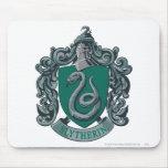 Verde del escudo de Slytherin Alfombrilla De Raton