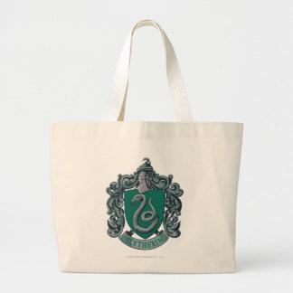 Verde del escudo de Slytherin Bolsa Tela Grande