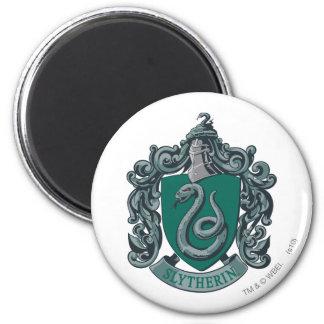 Verde del escudo de Slytherin Imán Redondo 5 Cm