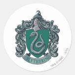 Verde del escudo de Slytherin Pegatina
