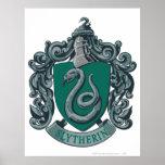 Verde del escudo de Slytherin Posters