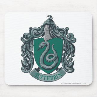 Verde del escudo de Slytherin Tapetes De Ratón