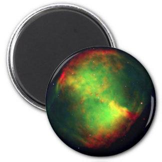 Verde del espacio de la nebulosa de la pesa de gim iman