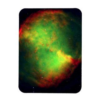 Verde del espacio de la nebulosa de la pesa de gim imán de vinilo