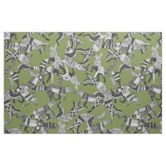 verde del fiesta del zorro del arbolado telas