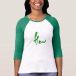 verde del flujo camisetas