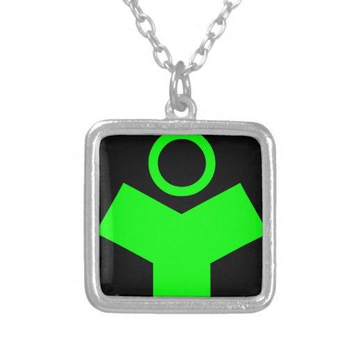 Verde del fósforo del logotipo de la tecnología de colgante personalizado