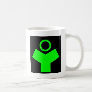 Verde del fósforo del logotipo de la tecnología de taza
