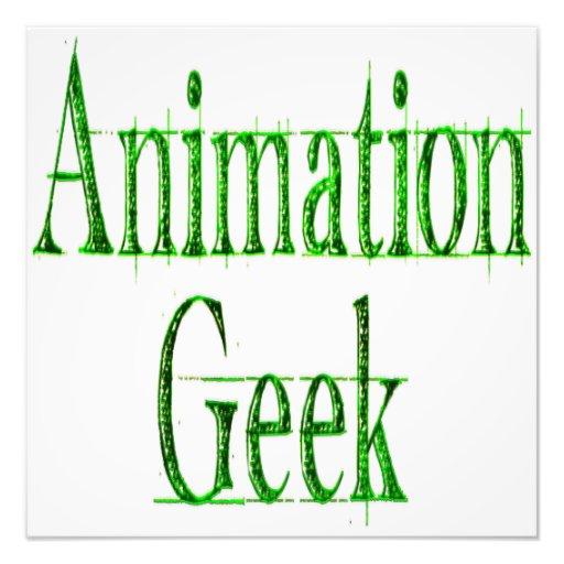 Verde del friki de la animación foto