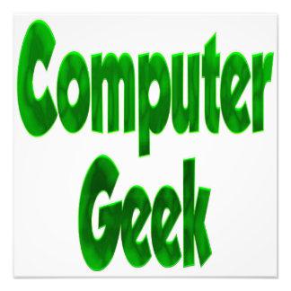 Verde del friki del ordenador