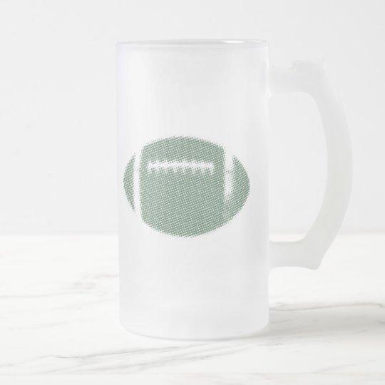 Verde del fútbol jarra de cerveza esmerilada