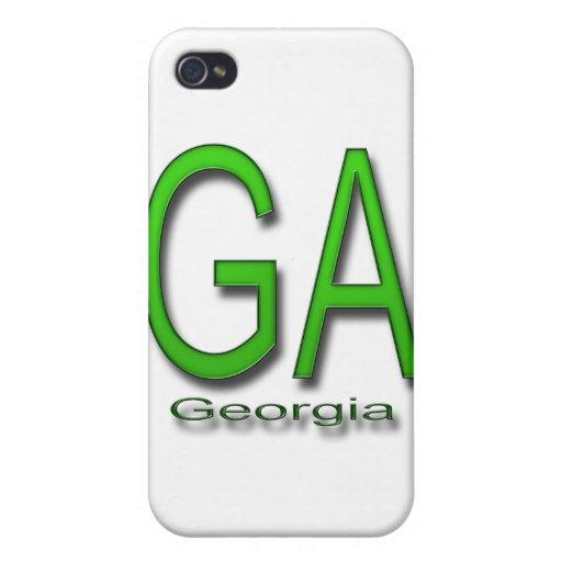 Verde del GA Georgia iPhone 4 Funda