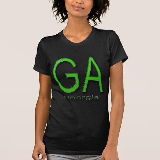 Verde del GA Georgia Playera