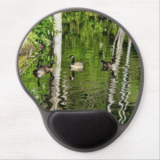 Verde del ganso (de Canadá) Alfombrillas De Raton Con Gel