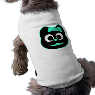 Verde del gatito de KiKi Playera Sin Mangas Para Perro