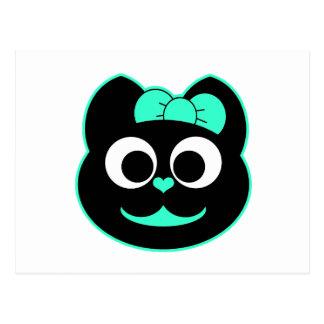 Verde del gatito de KiKi Postal