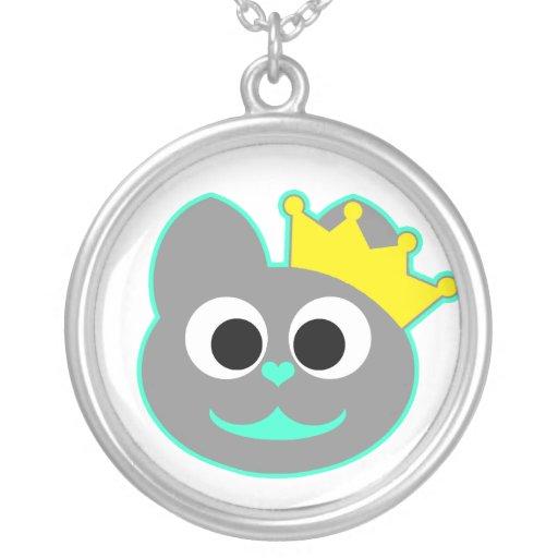 Verde del gatito de la reina - gris joyerias personalizadas