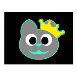 Verde del gatito de la reina - gris postal