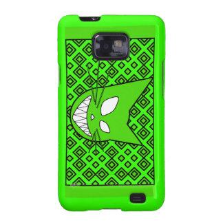 Verde del gatito de Techi Galaxy SII Fundas