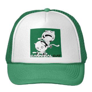 Verde del gato del caníbal gorras