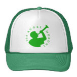 Verde del gorra del camionero de Moroni del ángel
