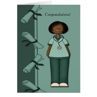 Verde del graduado de la enfermera de la enhorabue tarjetas