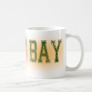Verde del Green Bay y Grunge del oro Taza Clásica